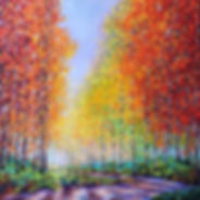 Kimberly Adams_Aspens in Autumn__Oil_40x