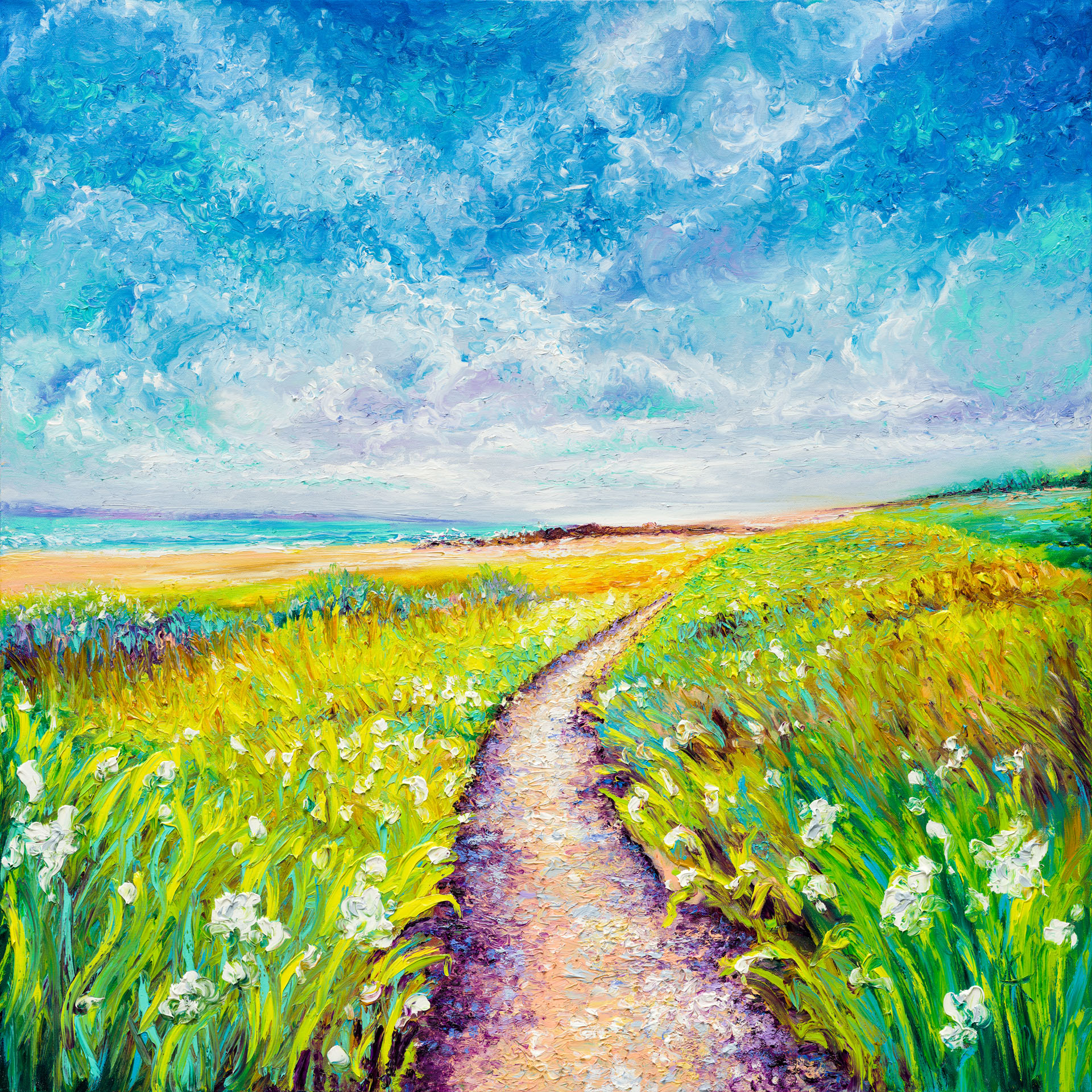 SEASIDE PATH / 36X36in