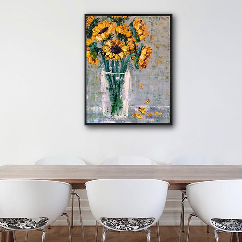 Sunflowers Revisited / 16X20 in