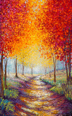 INTO AUTUMN / 30X48in