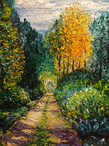 TRIBUTE TO MONET - WOODED PATH / 24X18
