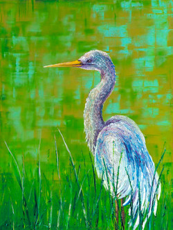 Crane You See Me / 48X36in