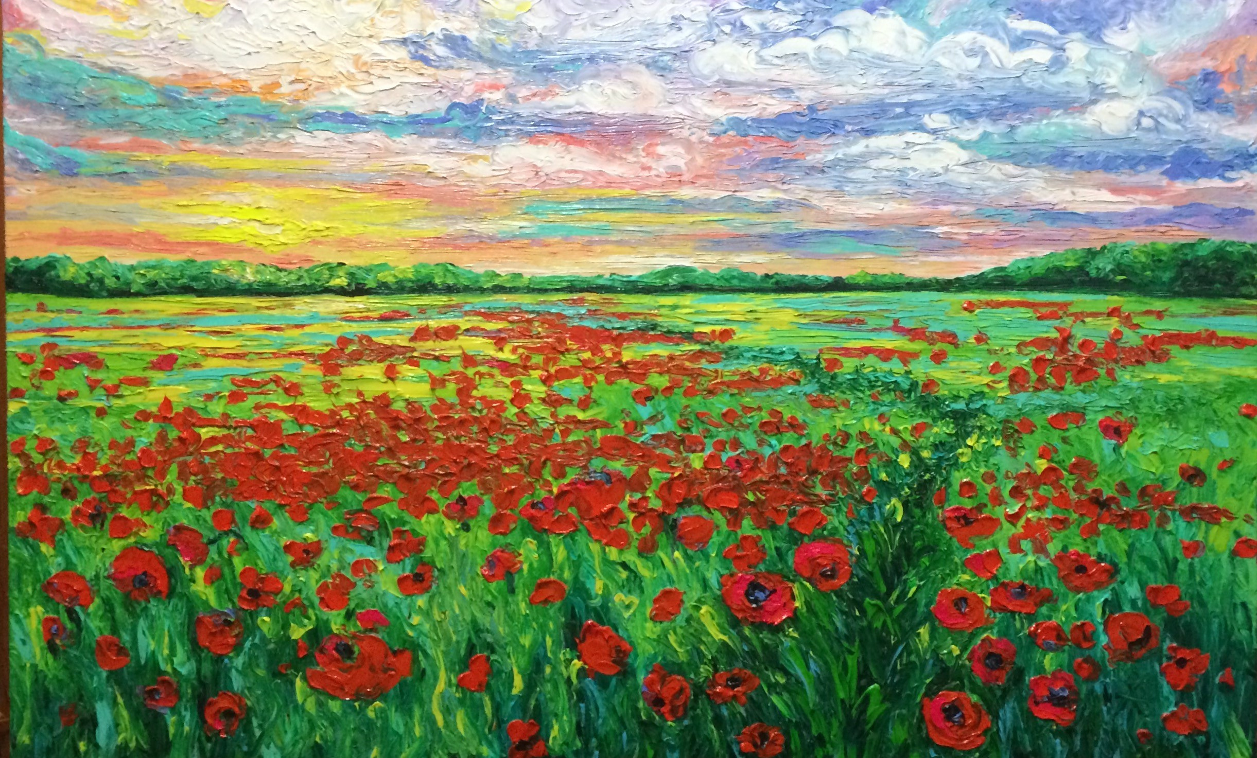 POPPIED PATH / 30X40in