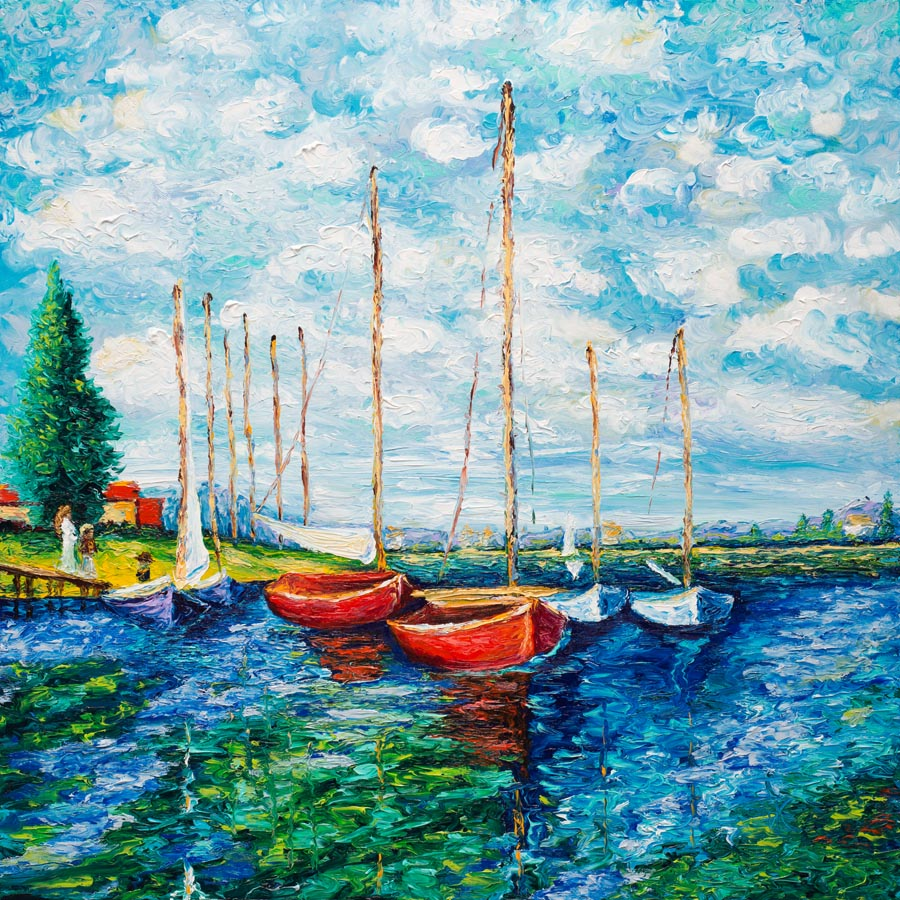 TRIBUTE TO MONET - RED BOATS