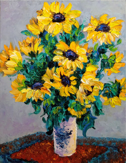 In the Manor of Monet Sunflowers