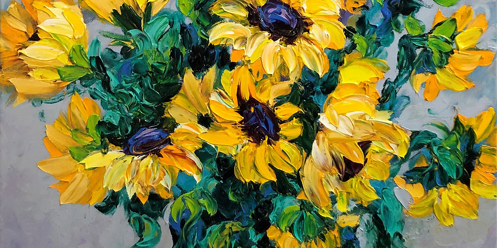 July 12th    Try It! Finger Painting Sunflowers w/ Kimberly Adams