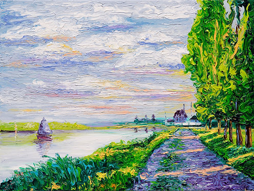 TRIBUTE TO MONET-AFTERNOON LIGHT / 16X20in