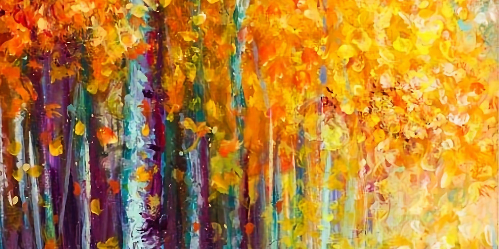 September 21st - Try it! Finger Painting a Fall Landscape with acrylics
