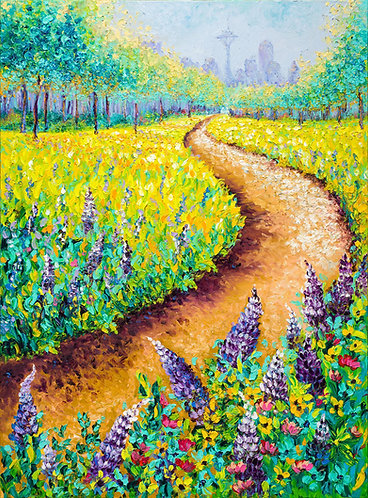 BLOOMING LUPINE / 40X30in