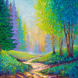 INTO THE FOREST / 40X40in