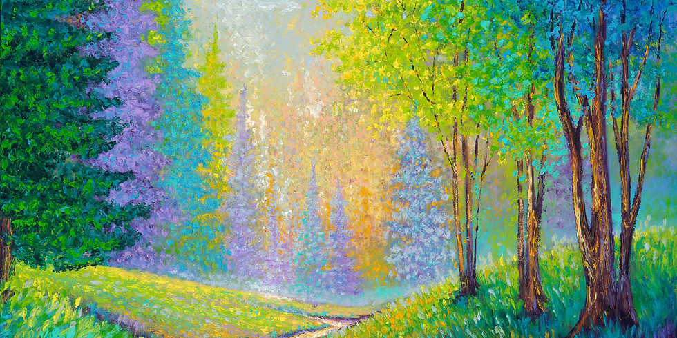 August 17th & 18th   Finger Painting Colorful Landscapes  w/ Kimberly Adams
