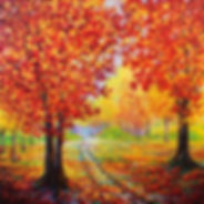 Kimberly Adams_Country Road in Autumn_36 x 36_OIl.jpg