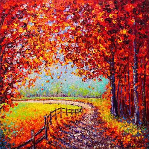 AUTUMN PALISADES / 36X36in