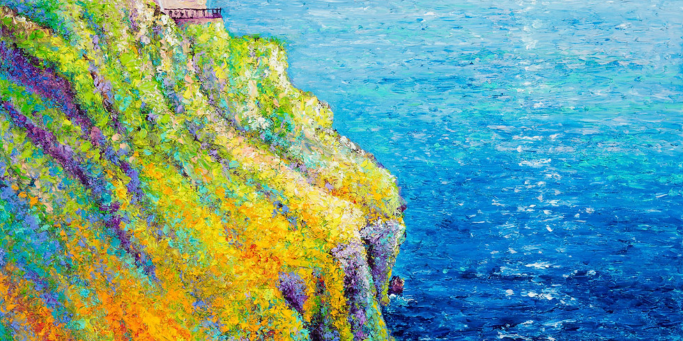 FINGER PAINTING A LIGHTHOUSE - BEGINNERS AND BEYOND - 2 DAY -  APRIL 14 & 15