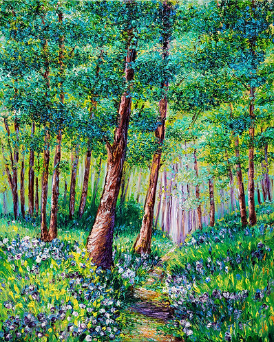 FOREST IN BLOOM / 24X18in