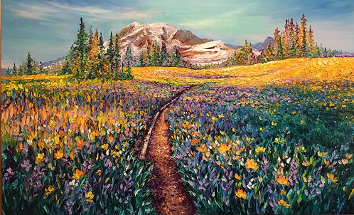 SUMMERTIME AT RAINIER / 30X40in / SOLD