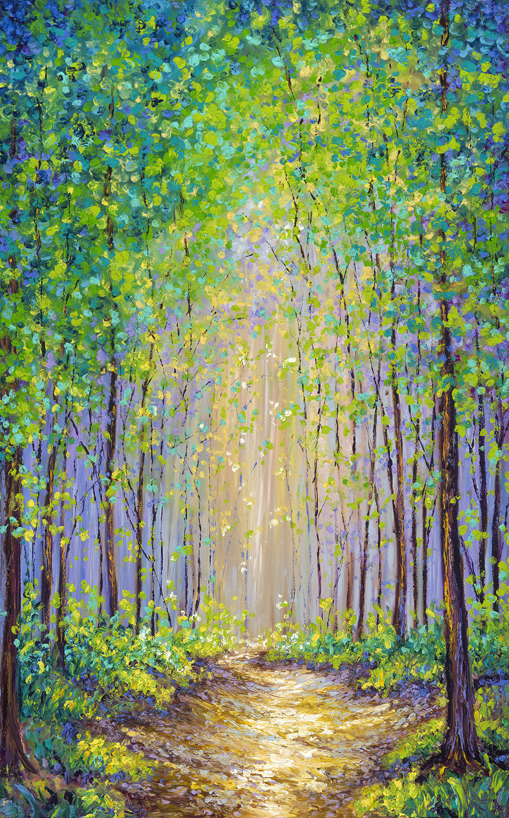 PATHWAY THRU THE TREES /  30X48in