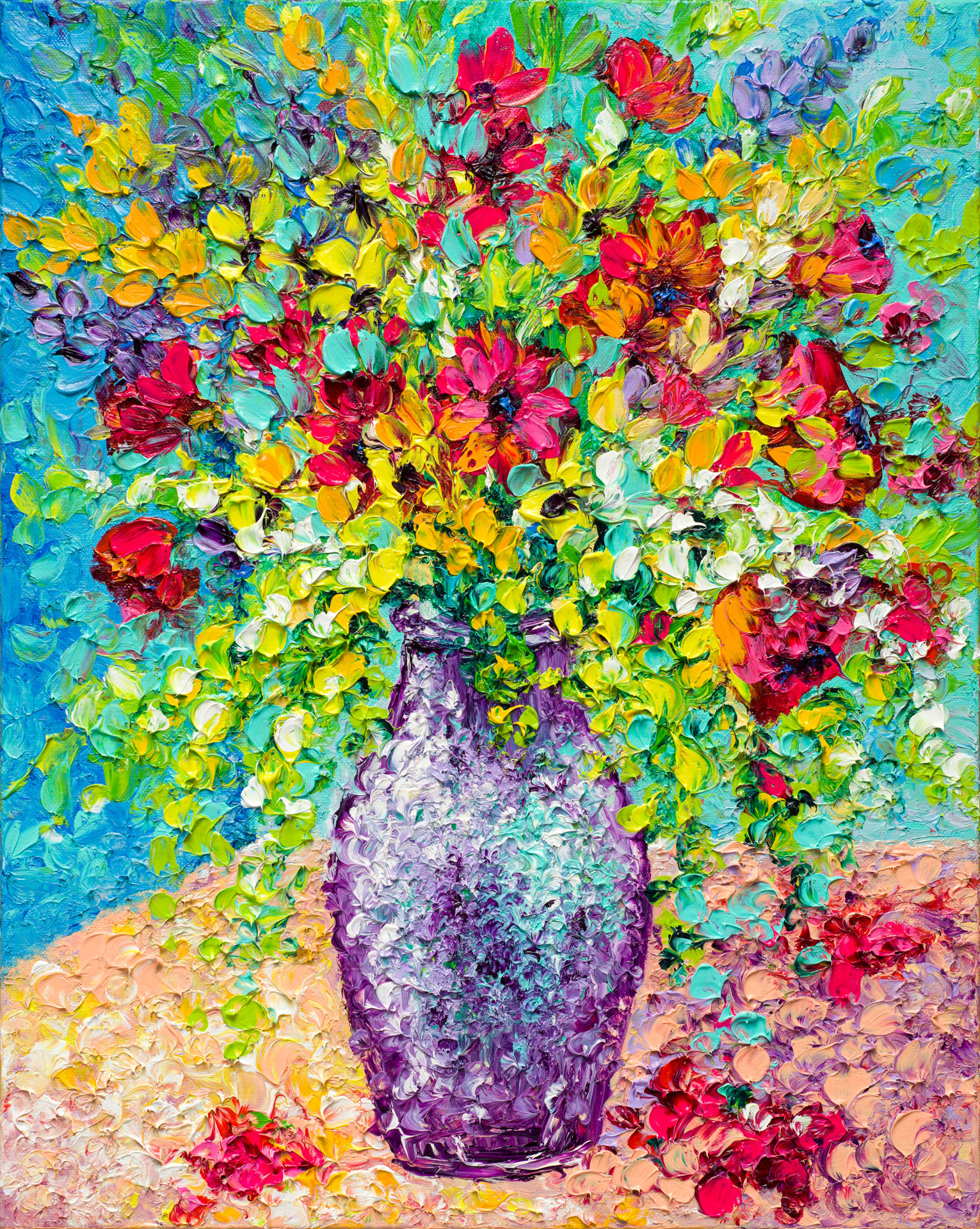 SUMMER BOUQUET / 20X16in