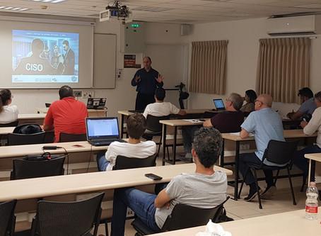 בהצלחה לכל החברים שהתחילו אתמול קורס CISO  באוניברסיטת בר-אילן