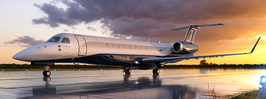 L650_On_the_Ground_at_Dusk