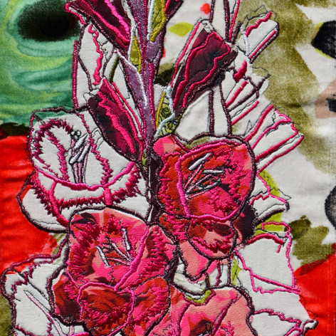 Gladioli Plum Tart (80th Birthday)