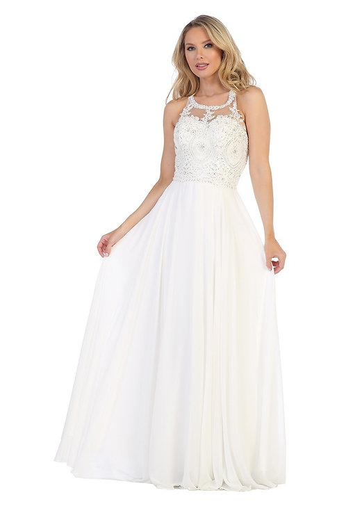 BRIDAL DRESS IVORY. PINK