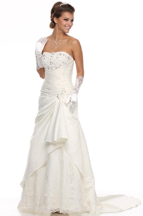 STRAPLESS BRIDAL DRESS