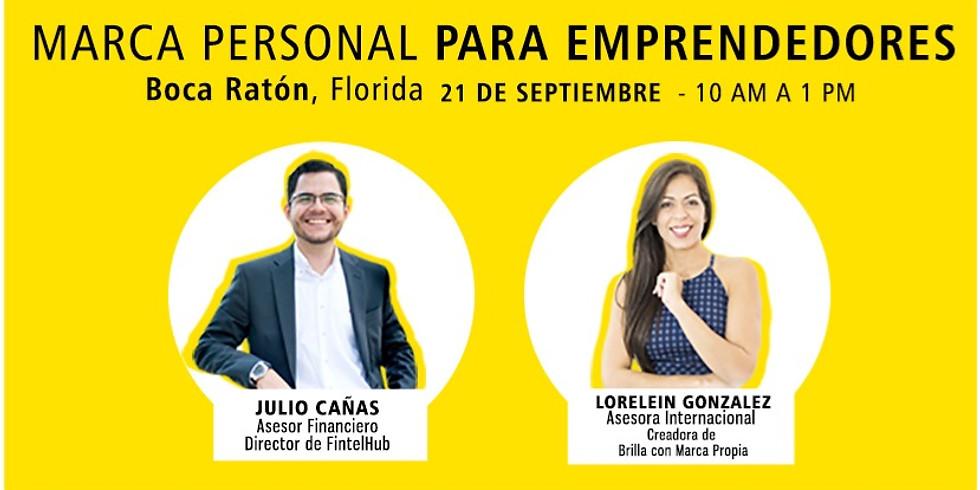 Marca Personal para Emprendedores - Presencial Boca Ratón, Florida