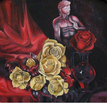 Red Rose with Incense