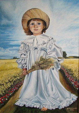 Girl with straw