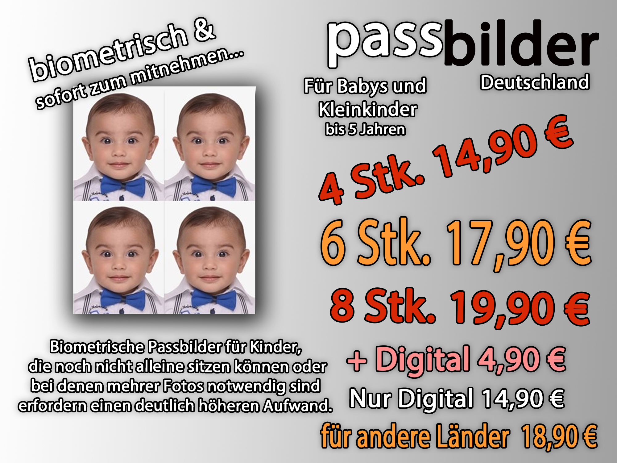 Passfotos Kinder