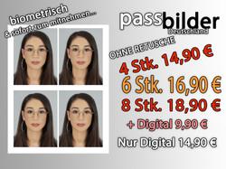 Passfotos Deutschland ohne Retusche