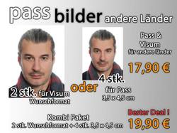 Passfotos Visum / Andere Länder