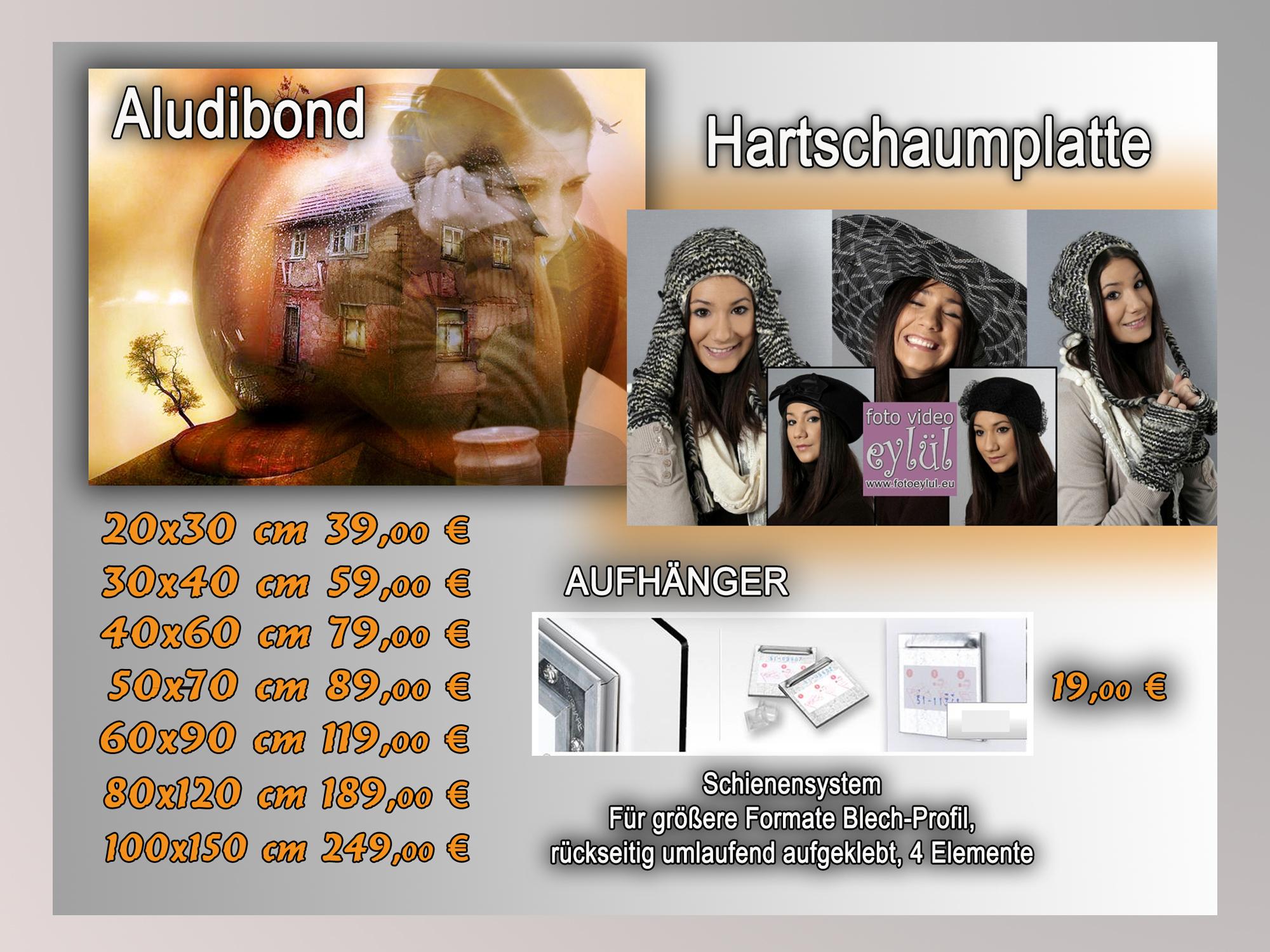 Hartschaum Platte / Aludibond