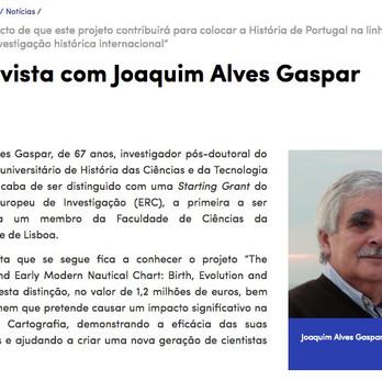 Faculdade de Ciências interviews Joaquim Gaspar on the Medea-Chart project awarded by ERC