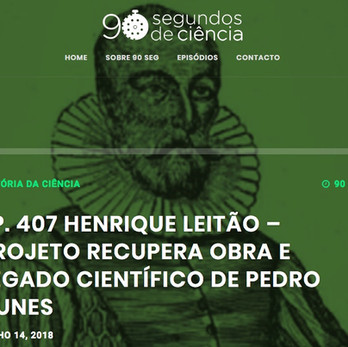 Projecto recupera obra e legado científico de Pedro Nunes por Henrique Leitão