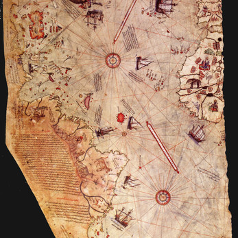 Chart of the Week | Piri Reis map, 1513, Gallipoli (Gelibolu), Turkey