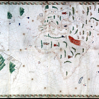 Chart of the Week | Pesaro (or Oliveriana) Planisphere, anonymous, c. 1504-1525, Italy