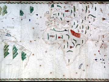 Chart of the Week   Pesaro (or Oliveriana) Planisphere, anonymous, c. 1504-1525, Italy