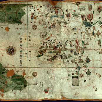 Chart of the Week   Juan de la Cosa planisphere, 1500, Spain
