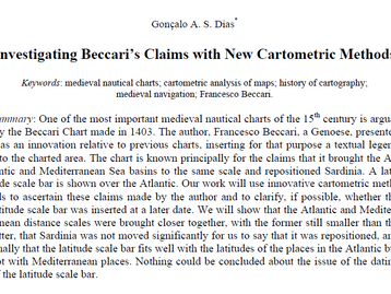 Investigating Beccari´s Claims with New Cartometric Methods - new research paper is out