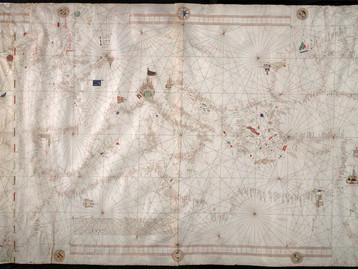 Chart of the Mediterranean, Black Sea and Western Europe, Francesco Beccari, 1403