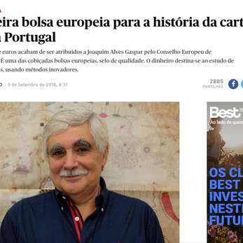 Joaquim Gaspar interviewed by Público on being awarded the ERC to study the Portolan Charts