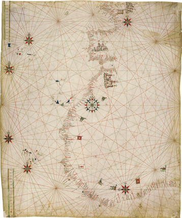 Chart of the Week   Anonymous Portuguese chart, after c. 1471