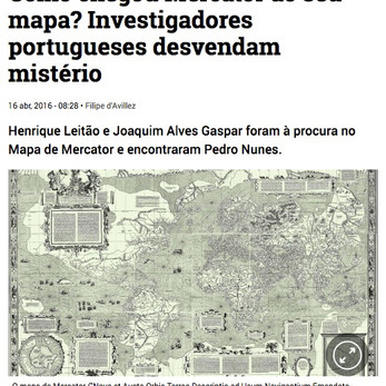 Henrique and Joaquim were looking at Mercator and found Pedro Nunes