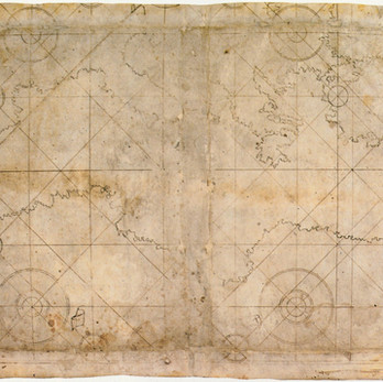 Chart of the week | Chart of the Mediterranean Sea (unfinished), anonymous Italy, 1650-1699