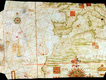 Os desertos e as ourelas do Mar: uma carta atlântica portuguesa do séc. XVI da Biblioteca Centrale d