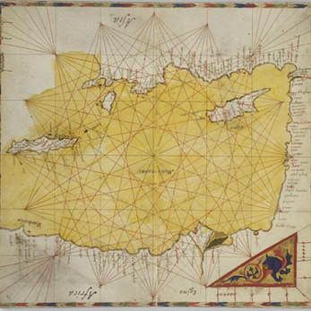 Chart of the Week   Vienna atlas of Pietro Vesconte, 1318, Italy