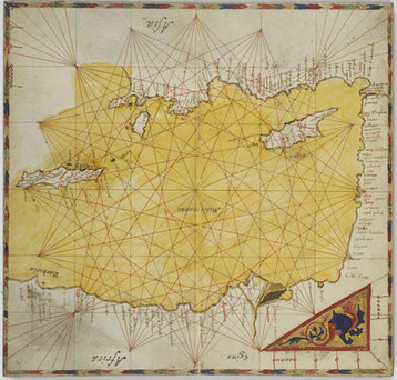 Chart of the Week | Vienna atlas of Pietro Vesconte, 1318, Italy