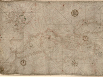 Chart of the Week   Unknown chart [Battista Agnese], 1514-1552, Italy